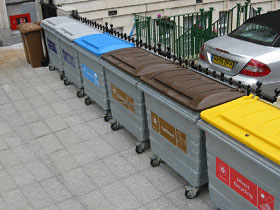 Four-Wheeled External Bins